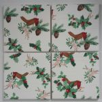 4 Ceramic Coasters in Laura Ashley Robin and Holly